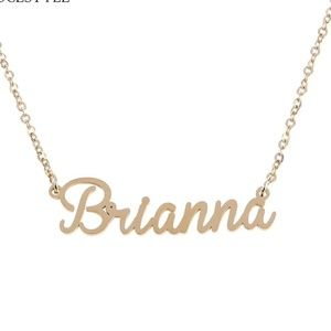 Jewelry - Brianna Gold Name Nameplate Necklace B25